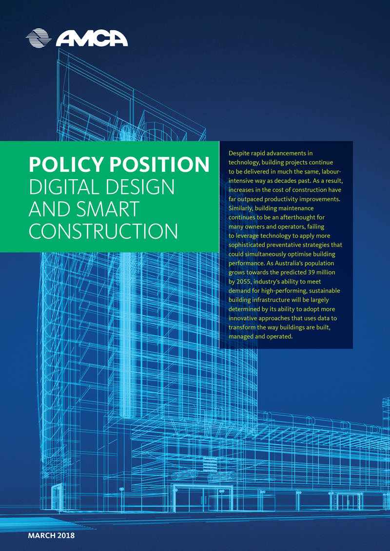 AMCA POLICY - DIGITAL DESIGN AND SMART CONSTRUCTION