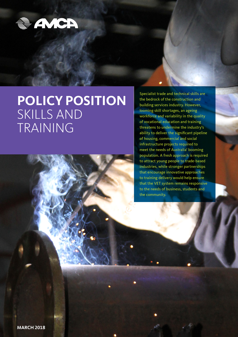 AMCA POLICY - SKILLS AND TRAINING