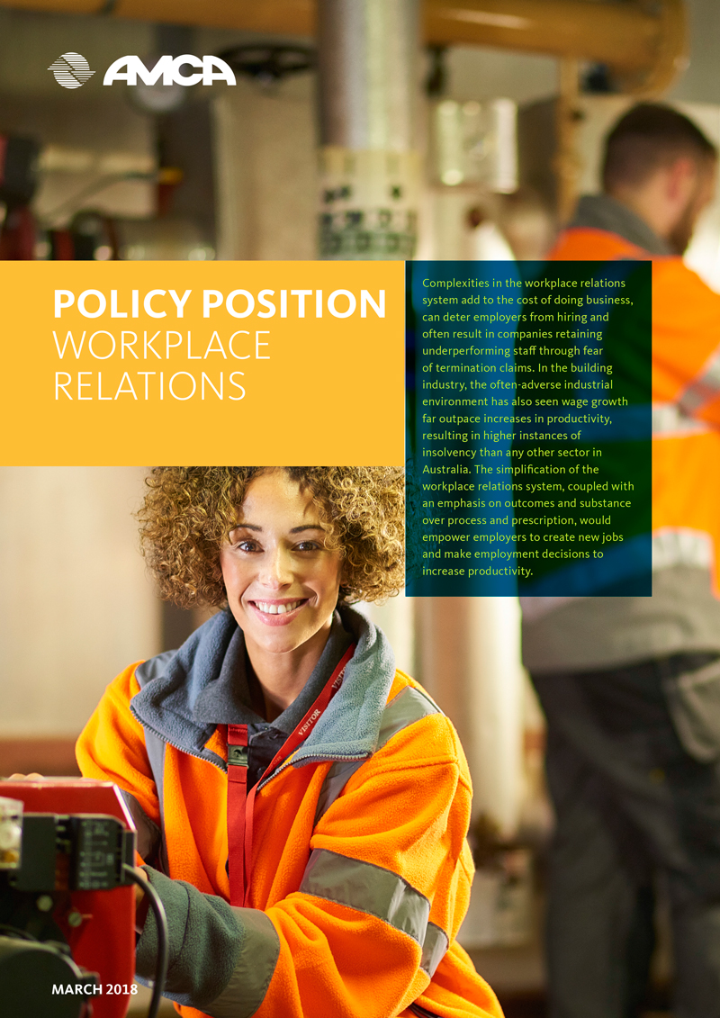 AMCA POLICY - WORKPLACE RELATIONS