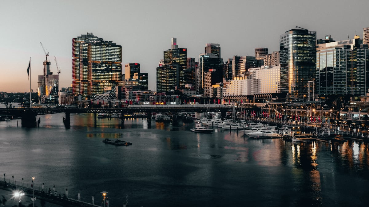 Sydney's Barangaroo skyline at dusk